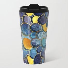 Abstract deep blue Travel Mug