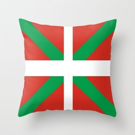 Flag of Euskal Herria-Basque,Pays basque,Vasconia,pais vasco,Bayonne,Dax,Navarre,Bilbao,Pelote,spain Throw Pillow