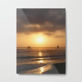 Ocean and Sun Metal Print