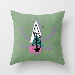 Atomic Christmas Throw Pillow
