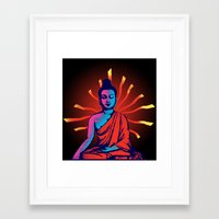 buddha Framed Art Prints featuring Buddha by famenxt