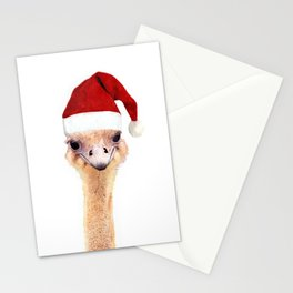 Ostrich Christmas Stationery Cards