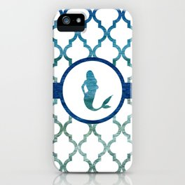 Mermaids: Tropical Water Moroccan Pattern iPhone Case