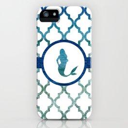 Mermaids: Tropical Water Moroccan Pattern iPhone Case