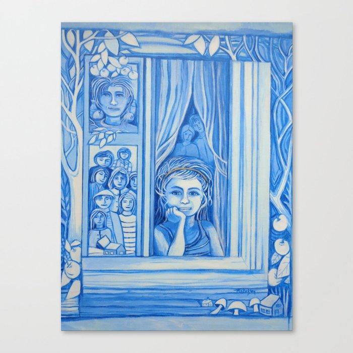 Blue window #9 Canvas Print