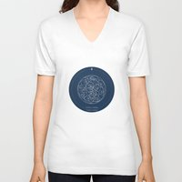 doctor V-neck T-shirts featuring Doctor Who: Wibbly Wobbly by Sof Andrade