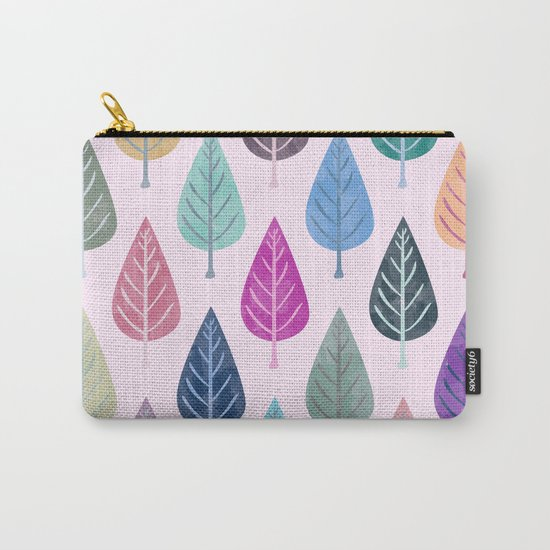 Watercolor Forest Pattern V Carry-All Pouch