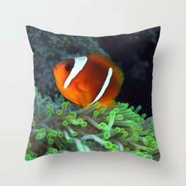 Anemone Fish in Anemone Throw Pillow