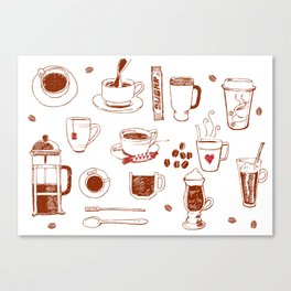 Coffee addict Canvas Print