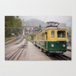Wengel Train - Switzerland Canvas Print