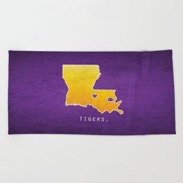 Louisiana State Tigers Beach Towel