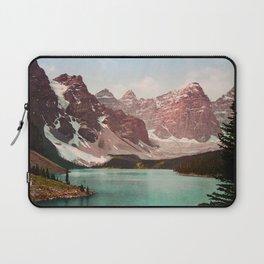 Moraine Lake - Alberta Canada - Circa 1903 Photochrom Laptop Sleeve