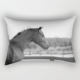 Bubba in Black and White Rectangular Pillow