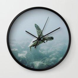 sea turtle iii / o'ahu, hawaii Wall Clock
