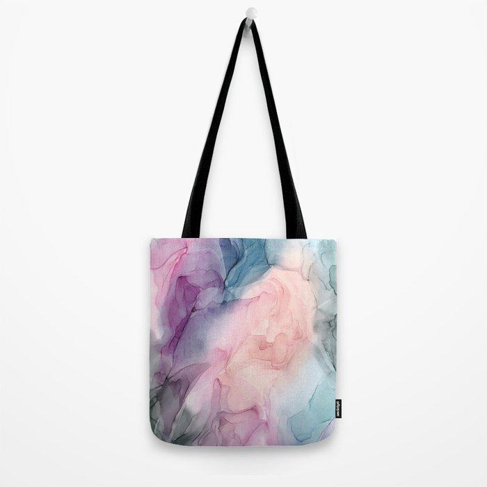 Dark and Pastel Ethereal- Original Fluid Art Painting Tote Bag