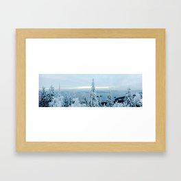Snow at Koli Framed Art Print