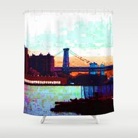 nyc Shower Curtains featuring NYC by Hover Brother