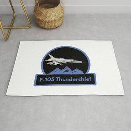 F-105 Thunderchief Military Airplane Rug