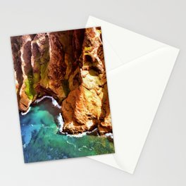 Tropical Coastline Hawaii of the Isolated Napali Coast Stationery Cards