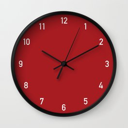 Numbers Clock - Red Wall Clock