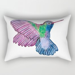 Watercolor Hummingbird Rectangular Pillow