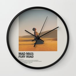 Mad Max Fury Road Minimal Movie Poster No 01 Wall Clock