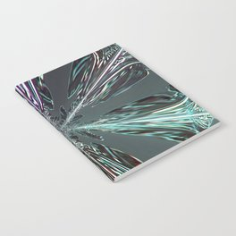 Abstract pattern leggings tshirts from snowflakes: Clouds Make Crystals into Feathers Notebook