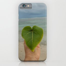 Heart on the beach picture iPhone Case