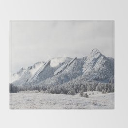 Frosty Flatirons Throw Blanket