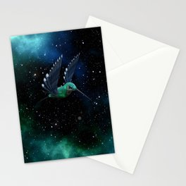 Space Hummingbird Stationery Cards