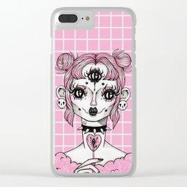Sickly Sweet (Pink) Clear iPhone Case