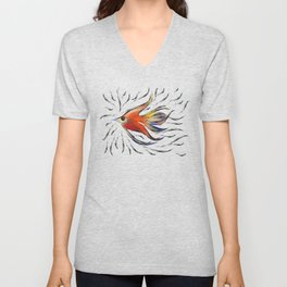 Poloniussa - red angelfish Unisex V-Neck