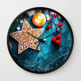 Christmas Treats Wall Clock