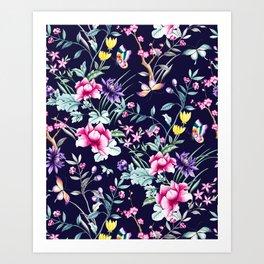 Dark Garden Paradise Art Print