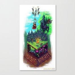 Isometric Nostalgia: Shovel Knight Treasure Trove Canvas Print