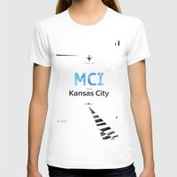 kansas city T-shirts featuring Kansas City Airport code poster by Roarr