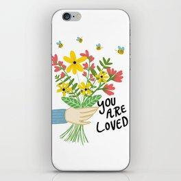 Happy Flower Illustration iPhone Skin