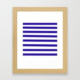Purple and White Stripes Framed Art Print