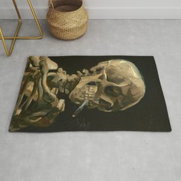Vincent van Gogh - Skull of a Skeleton with Burning Cigarette Rug