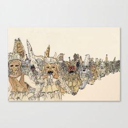Koukeri (Mummers) Canvas Print