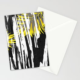 Abstract Palm Tree Leaves Design Stationery Cards