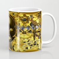android Mugs featuring Android Clockwork by Magmata