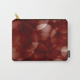Dark intersecting burgundy translucent circles in bright colors with a brick glow. Carry-All Pouch