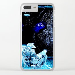 TARDIS BLUE Clear iPhone Case