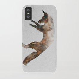 Jumping Fox iPhone Case