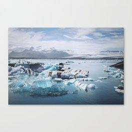 Icelandic glacier Canvas Print