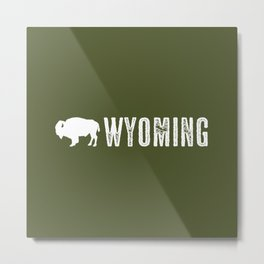 Bison: Wyoming Metal Print