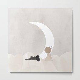 Moongazing  Metal Print