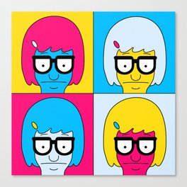 Tina Pop Art Canvas Print