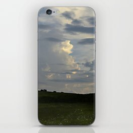 Sunset Cloudscape Rolling Hills Hay Rolls iPhone Skin